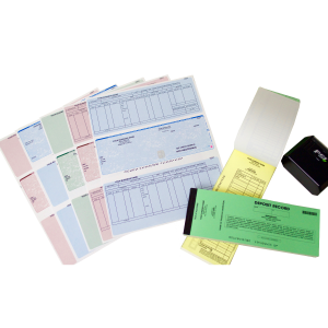 Business Checks and deposit slips isolated