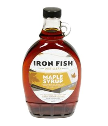 product labels example: Iron Fish maple syrup